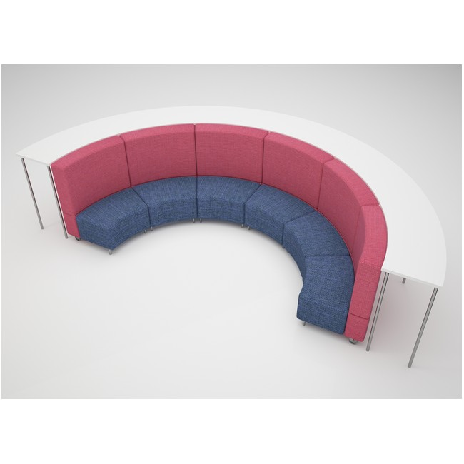 Half Circle with a Bench
