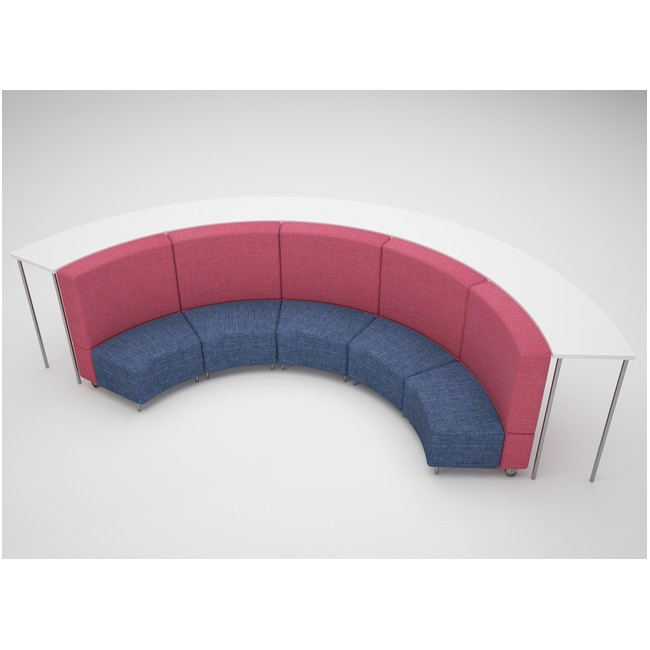 Large Curve with a Bench