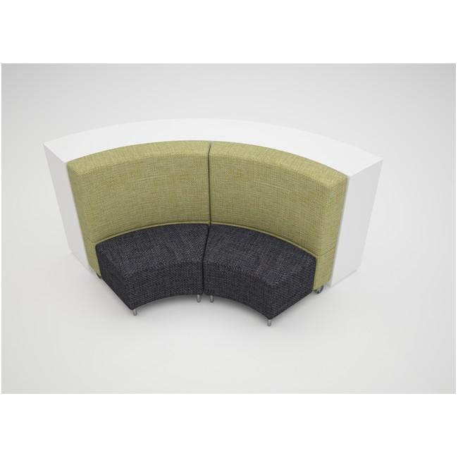 Medium Curve 1050mmH 3 Shelves