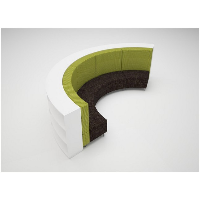 Large Curve 900mmH 3 Shelves