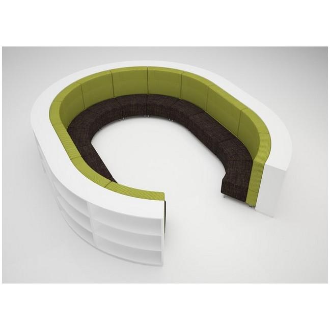 Full Oval 900mmH 3 Shelves