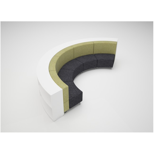 Large Curve 900mmH 2 Shelves