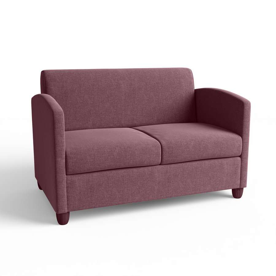Bastian Double Seater Lounge with timber legs