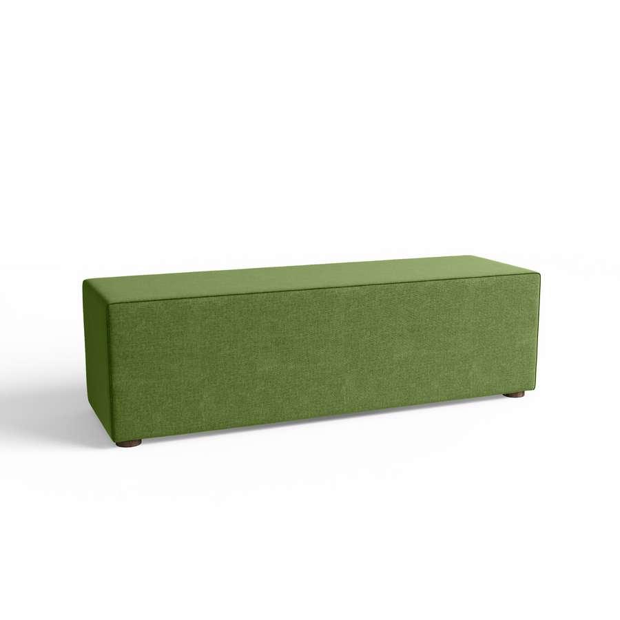 belrose rectangle ottoman in green