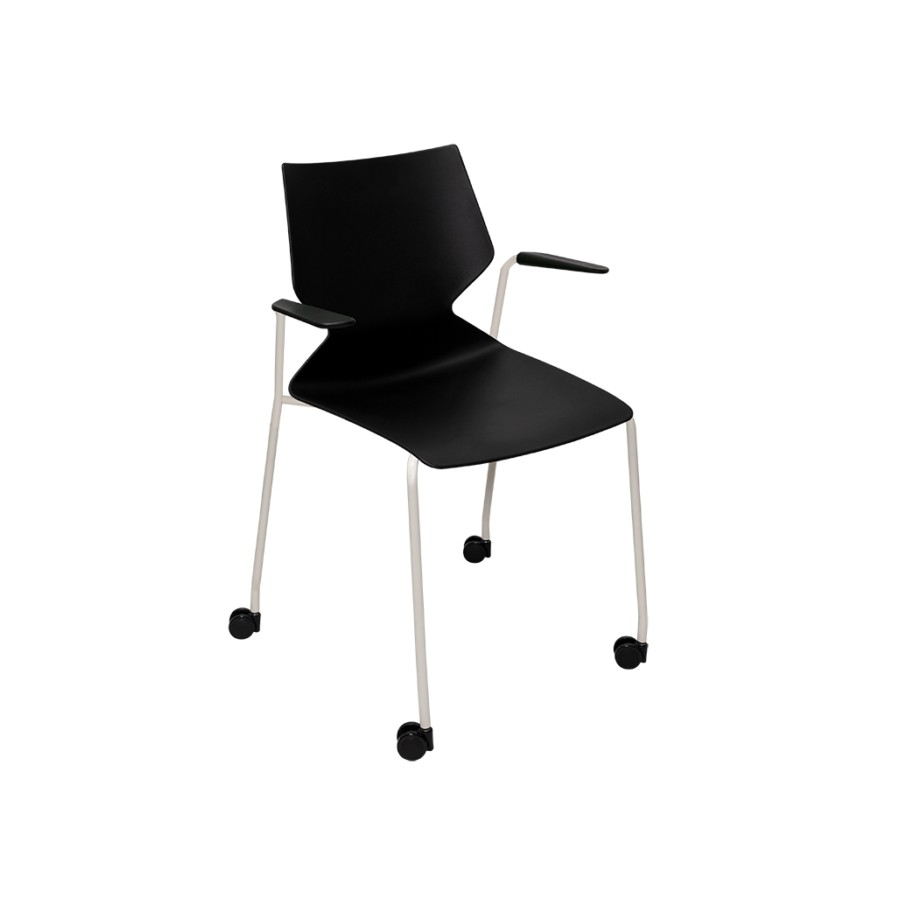 Fly 4-Leg Chair with Castors