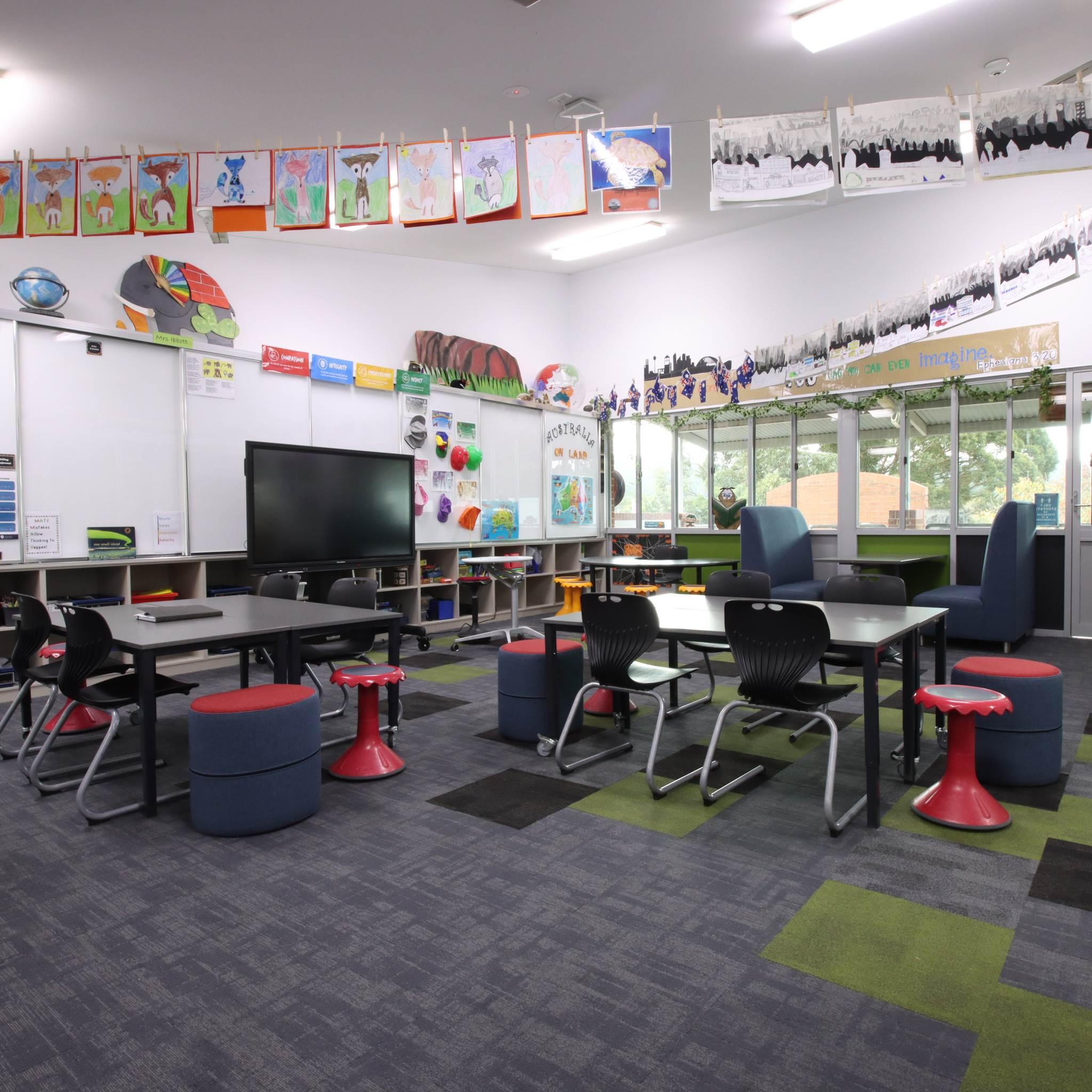 Classroom furniture in a sydney school