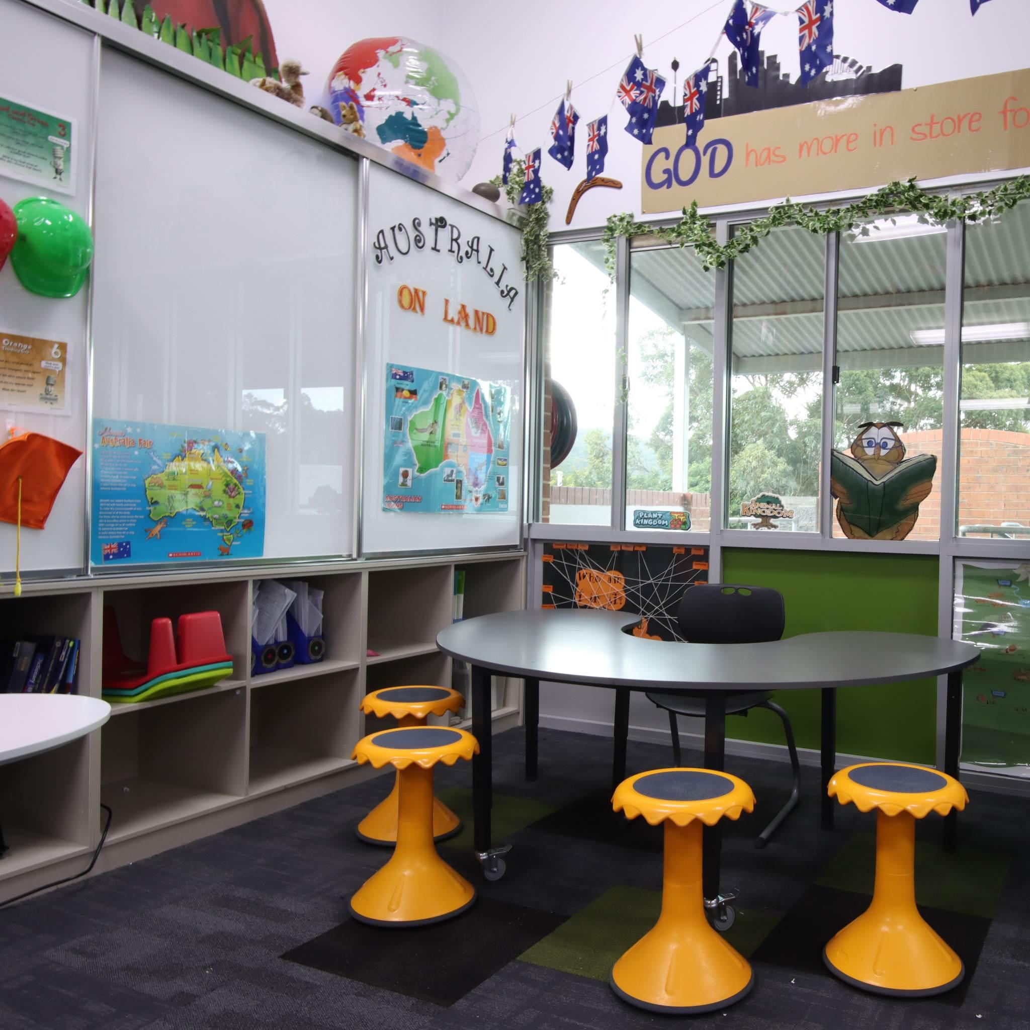 classroom furniture setting in classroom
