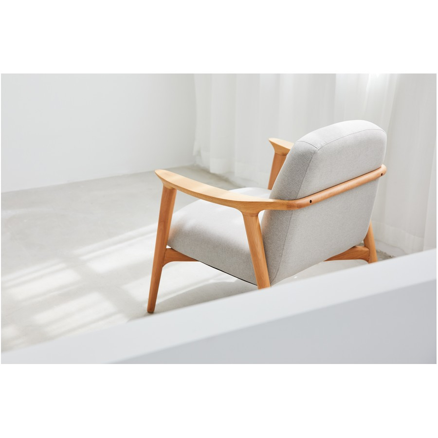 Puffy Lounge Chair - Wooden Base