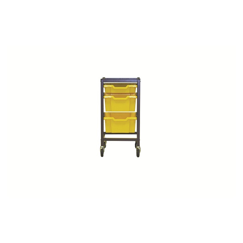 Single Column Gratnells Trolley 725mmH with accessories - Set2