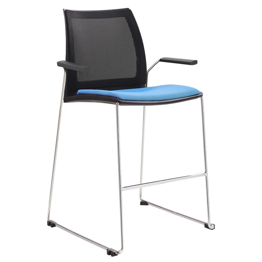 Vinn Mesh Back Upholstered Stool